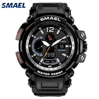 SMAEL Dual Display Watches Men Sport Watch Top Brand Luxury Military Army Watch Digital Clock Men