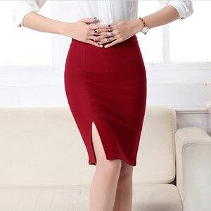 Image 5 - 2017 חדש נשים פורמליות עבודה ללבוש חצאיות גבירותיי סקסי גבוהה מותן מיני עיפרון חצאית 7 צבעים למתוח חבילה ירך SP5602