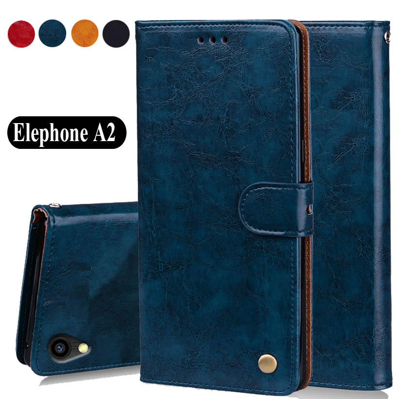 "Luxury PU Leather Slip-resistant Flip Wallet Case For Elephone A2 A2 Pro Book Case 5.47"" Back Cover Case W01"