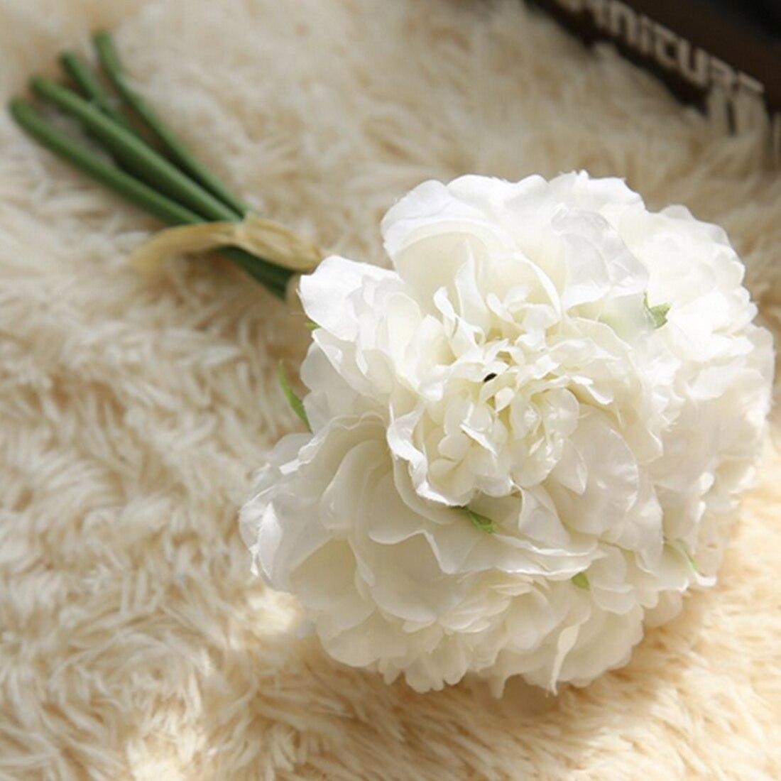 Surwish Plastic Artificial Flowers Peony Bouquet Decorative Flower