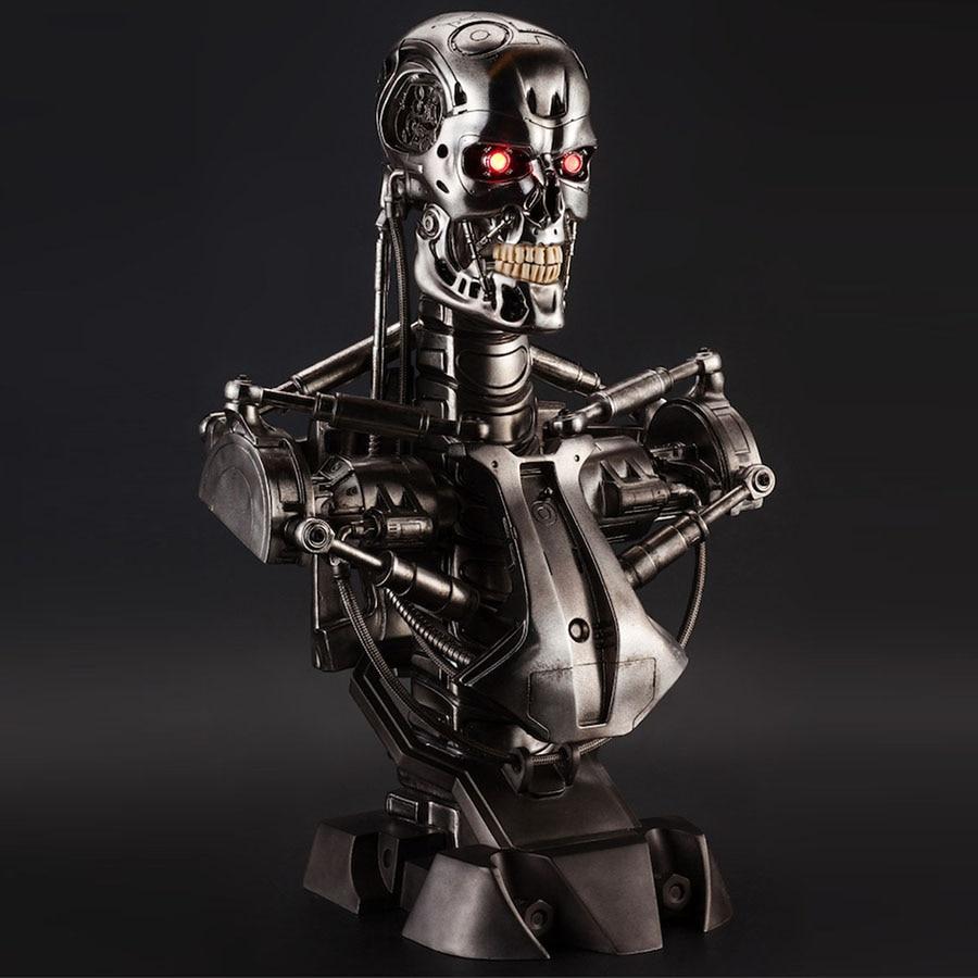 OGRM Replica Resin Terminator T800 Bust Statue 1:1 Scale Skull Endoskeleton Lift-Size Bust Figure LED EYE Best Quality T-800