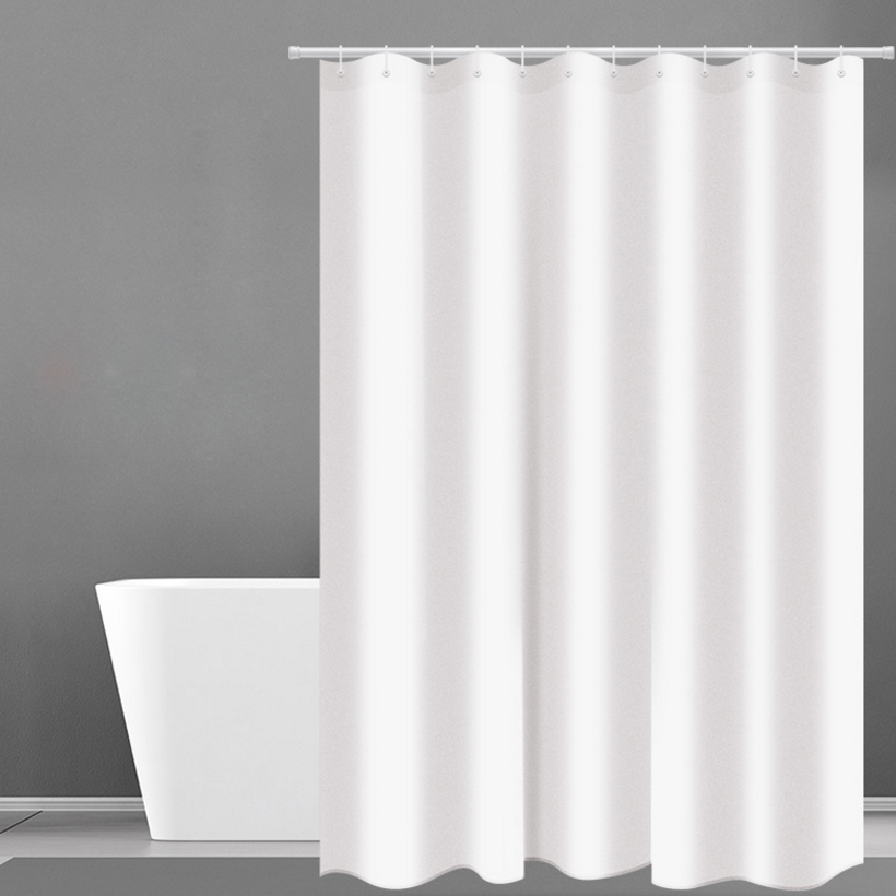 Shower Curtain Hotel Fabric Heavy Weight Waterproof And Mildew Free Bath Curtains White D40