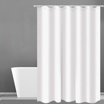 Zasłona prysznicowa Hotel waga ciężka zasłona prysznicowa wodoodporna i pleśń darmowe kurtyny kąpielowe białe zasłony prysznicowe D40 tanie i dobre opinie Ekologiczne Peva Nowoczesne Stałe 0710D40 90-180cm wide 200cm long Eco-Friendly New Classical Post-modern Use as bathroom curtain window pannel or doo