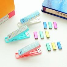 Grapadora zakka deli скобы степлер школьные симпатичные принадлежности канцелярские ручной набор