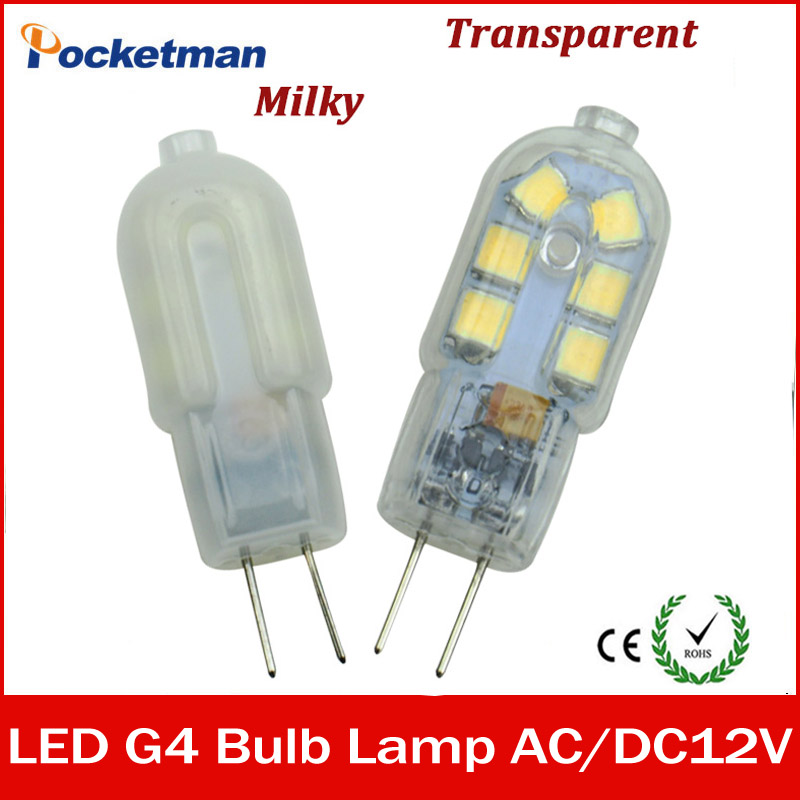Mini G4 LED Lamp 3W AC/DC 12V SMD2835 Lampada LED G4 Bulb Milky/Transparent 360 Beam Angle Lights Replace Halogen 30W G4