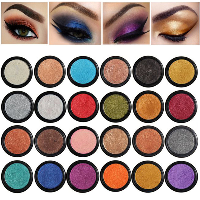 PHOERA 24 Clors 2018 Cosmetic Eye Shadow Palette Glitter Shimmer Powder Natural Pigment Eyes Makeup Cosmetic TSLM2 2