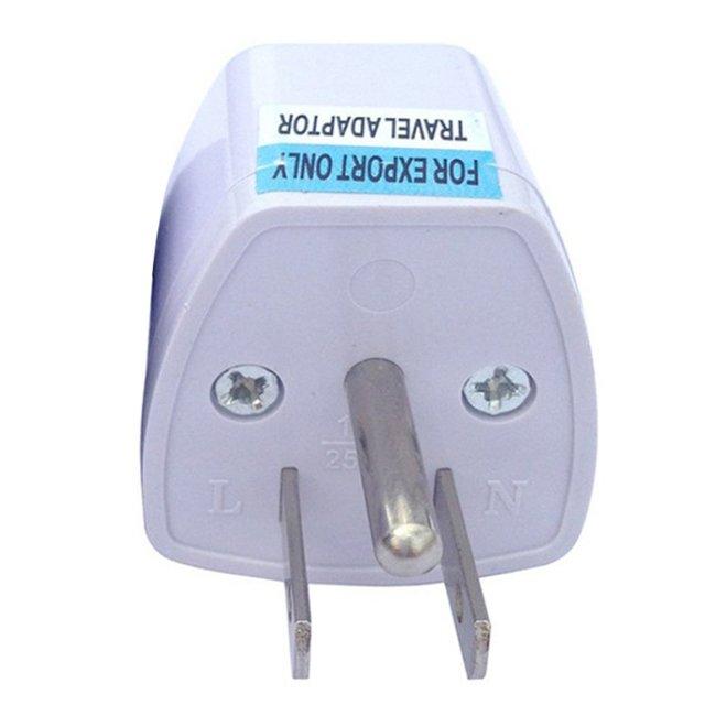Three-Legged Power Conversion Plug Connector Adapter Power Plug One Round Two Flat Power Plug 1