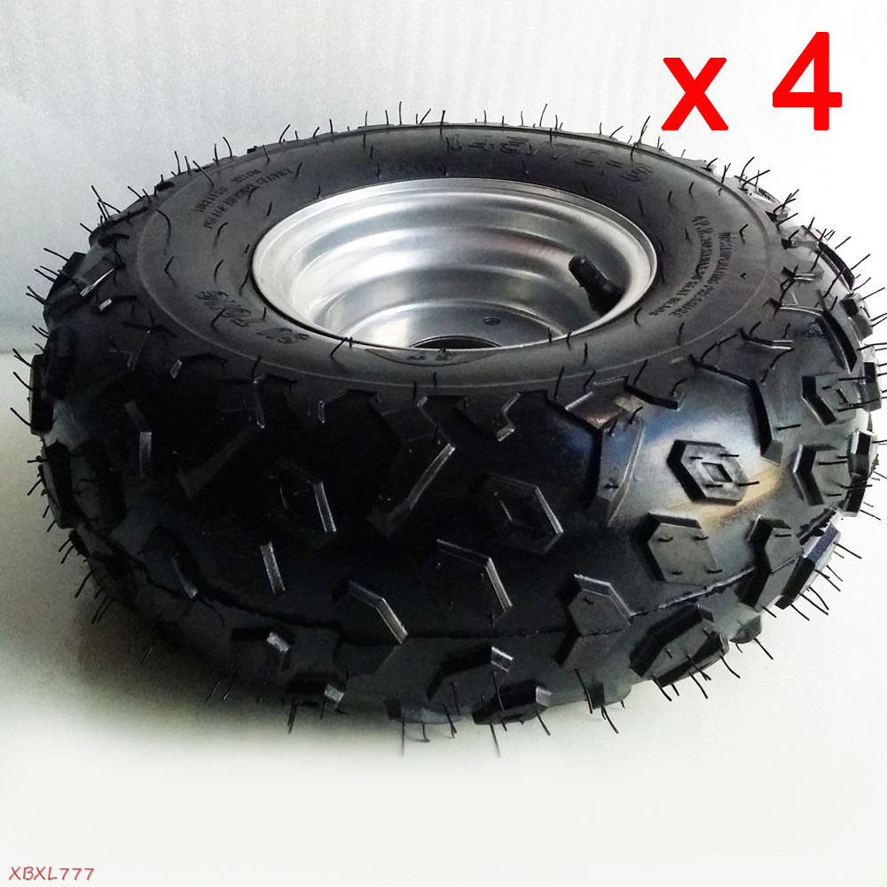 4pcs 145 70 6 Front Rear Wheel Rim Tyre Tire 50 110 125cc Quad Bike ATV