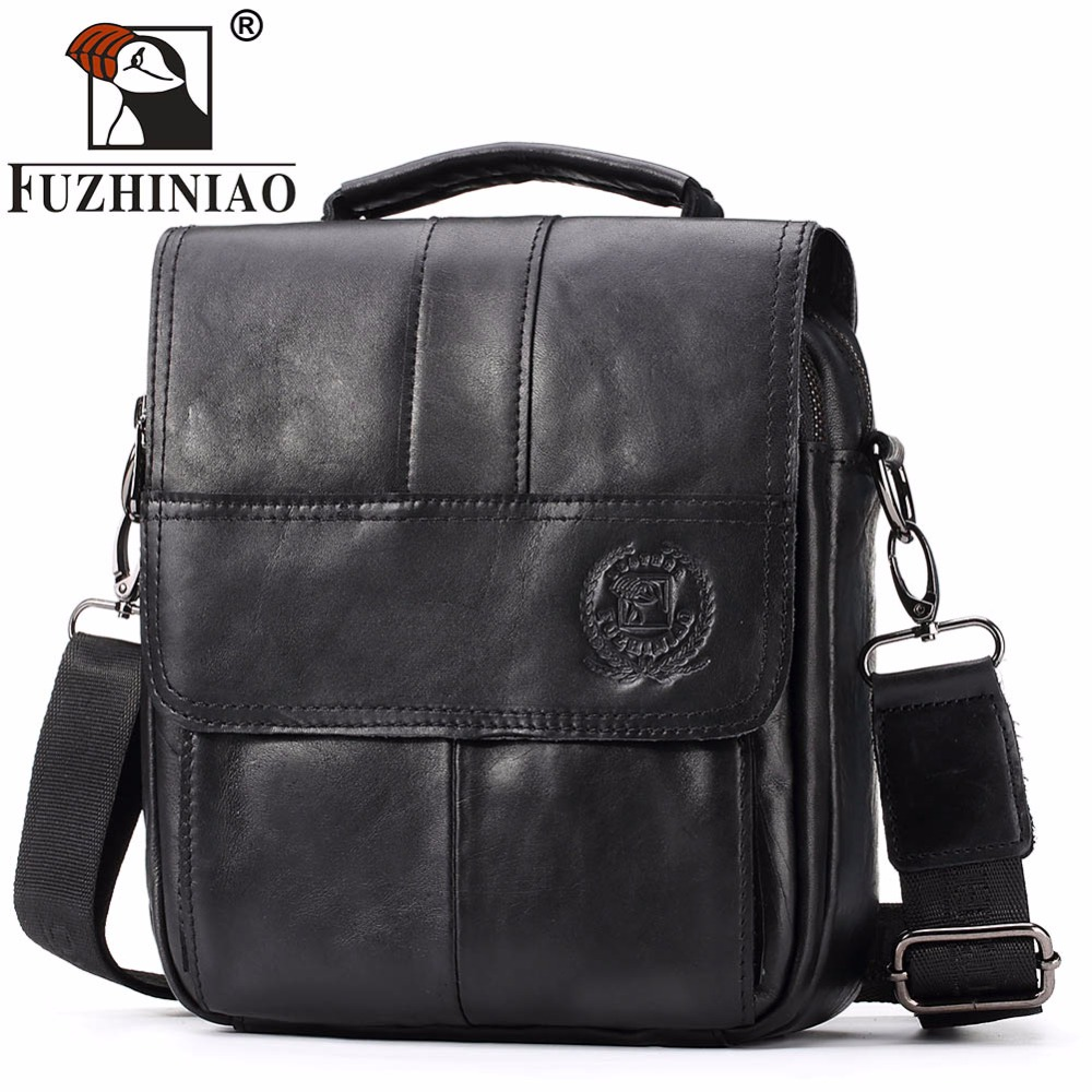 FUZHINIAO Famous Brand New Fashion Man Genuine Leather Messenger Bag Male Cross Body Shoulder Business Handbag For Men Tote Bags new men business bags men soft briefcase bags man bags for office 2017 male handbag cross body shoulder leather handbag black