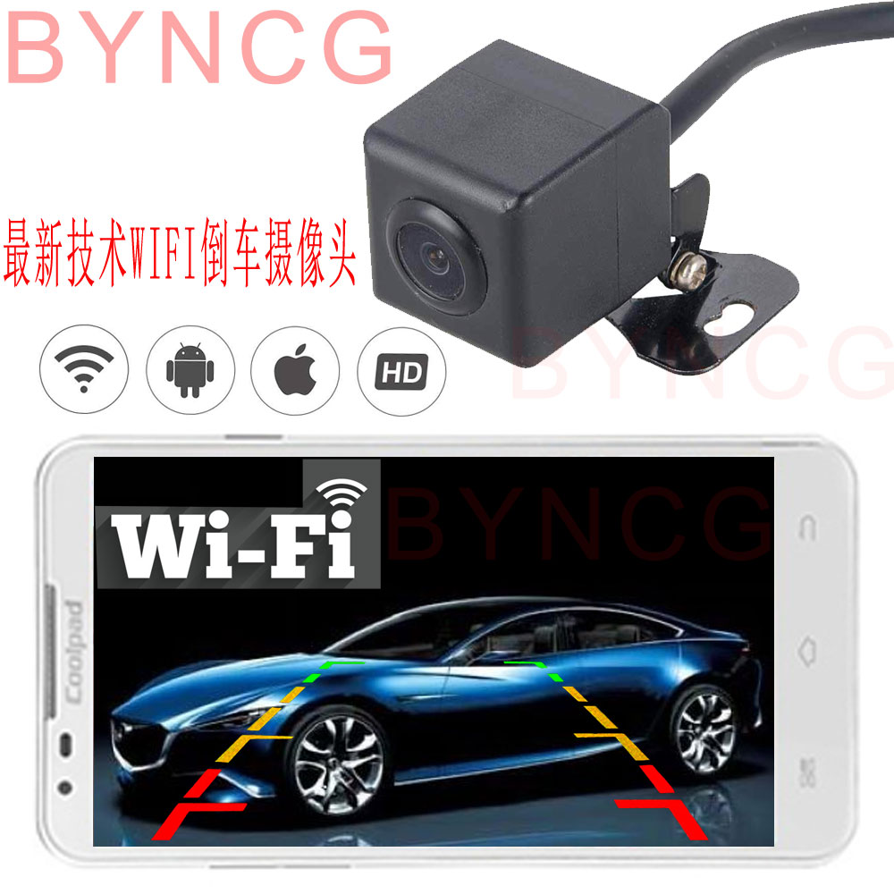 Autoradio Wireless Wifi Car Rear View Camera rearview HD CCD Universal Parking Reverse backup Camera 12LED for Only Android 5.0 gl 8902w wifi backup camera car wireless rear view apply ios and android apps