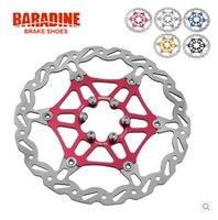 Baradine Light Weight Colorful Bike Floating Disc Brake Rotor 160mm 6 Bolt Red Blue Black Gold
