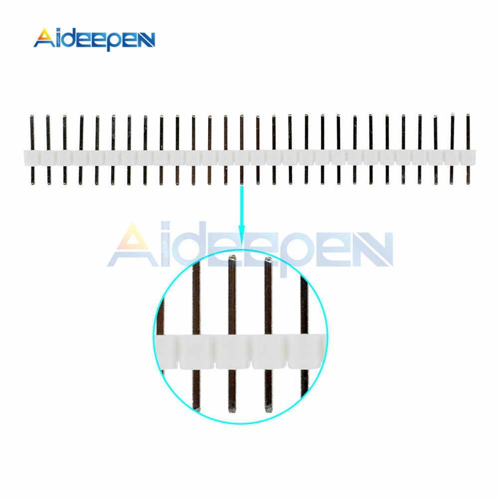10Pcs 40Pin 2.54 Mm Baris Tunggal Pria Judul Pin Konektor Strip PBC 40 Pin UNTUK ARDUINO Putih