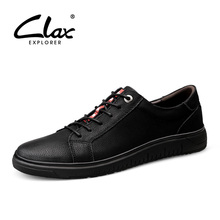 CLAX Mens Leather Shoes Fashion Casual Footwear Male Spring Autumn Walking Shoe Sneakers Soft chaussure homme