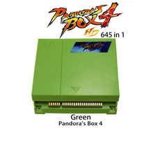 Pandora's Box 4 jamma multi arcade board ,HD CGA& VGA output  645 in 1  game PCB  for  game machine new arrival free shipping game elf 750 in 1 jamma multi game pcb can deal with cga