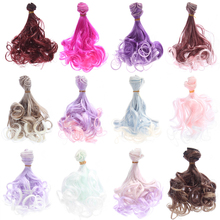 1pc High Quality DIY Handmade Doll Wig BJD Hair High-temperature Wire Natural Curly Wigs Big Wave Accessories
