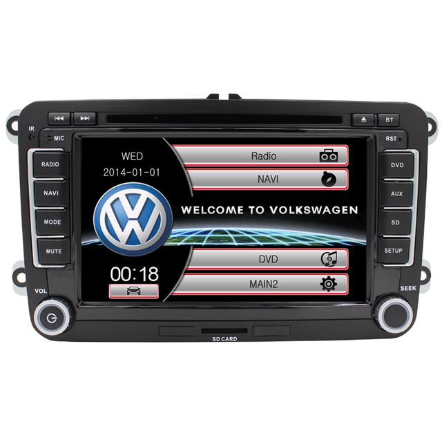 7 ''2 Din Controle Volante Bluetooth UI RDS para passat B6 Golf 5 Jetta navegação GPS AM FM Carro DVD Player Mapa Livre