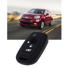 Silicone Car Key Case Cover For Fiat 500X Toro Tipo Egea 3 Buttons Dodge Neon
