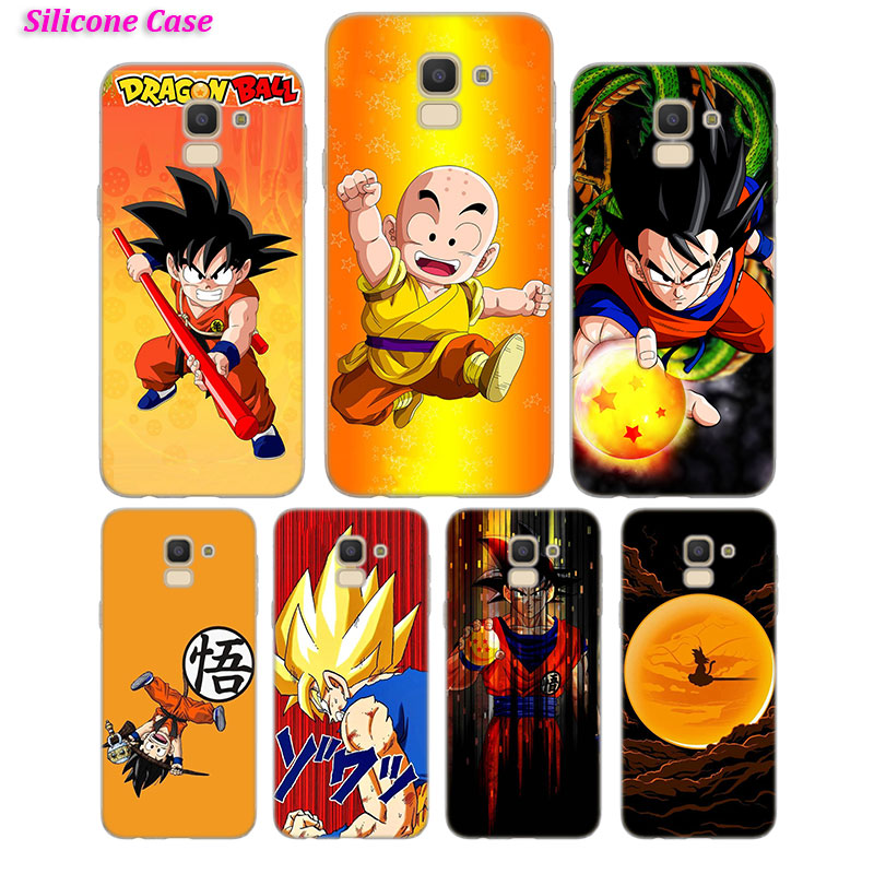 Smart Black Silicone Case Bag Cover For Samsung Galaxy J4 J6 Plus Note 8 9 J3 J5 J7 2017 Eu M10 M20 M30 Shell Coque Dragon Ball Goku Cellphones & Telecommunications