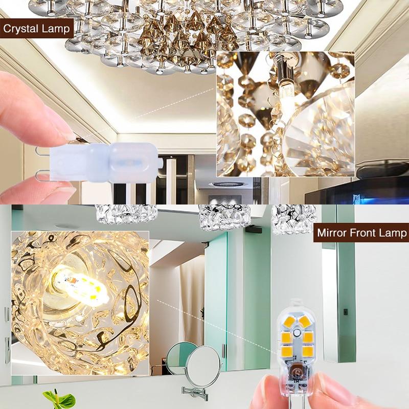 2pcs/lot G4 G9 LED Lamp Mini LED Bulb AC 220V DC 12V SMD2835 Spotlight Chandelier High Quality Lighting Replace Halogen Lamps 4
