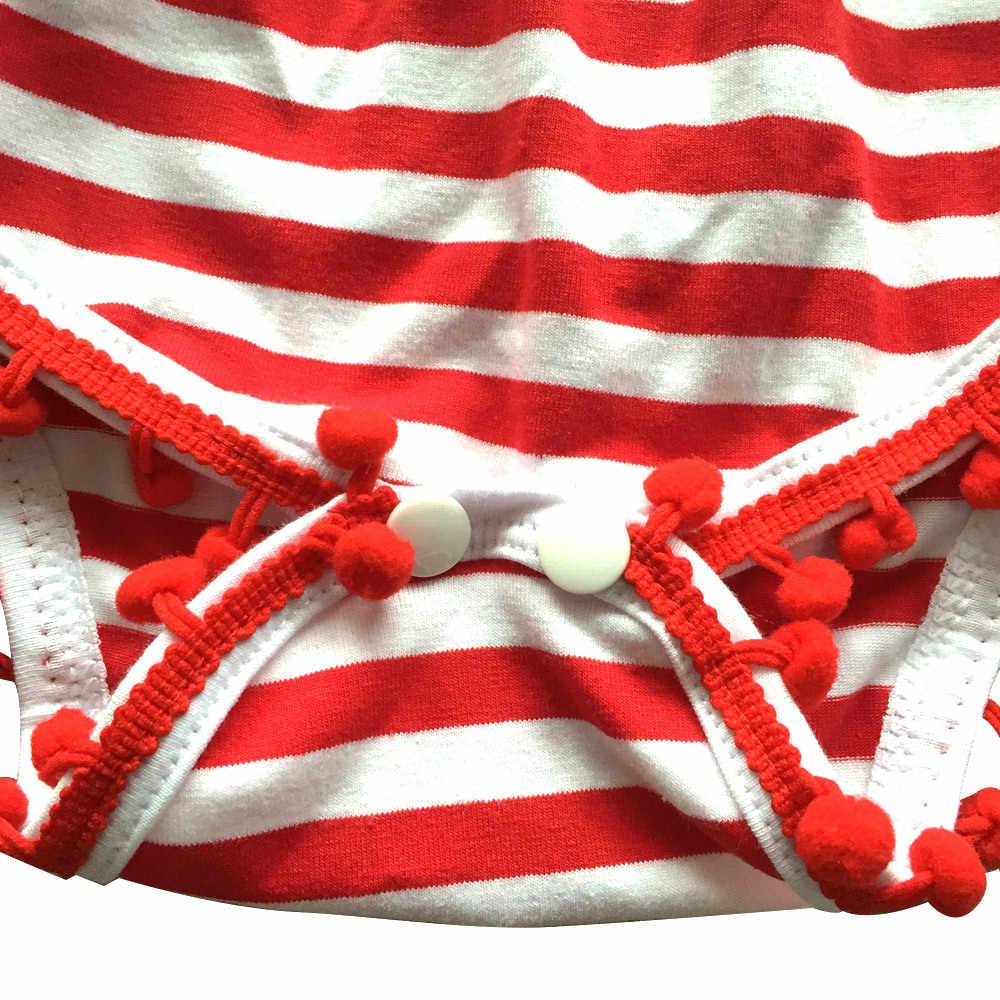 Mùa hè Cho Bé Gái Quần Áo Cho Trẻ 2019 Cotton Bodysuit Mỹ Họa Tiết Tua Rua Bóng Với Dây Đeo Đầu Cho Trẻ Sơ Sinh Cơ Thể Bé Phù Hợp Với Hot