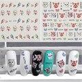 1 Шт. Water Transfer Decal Наклейки Nail Art Маникюр Советы Мультфильм Cat Дизайн Птицы Узоры Для Ногтей Переноса Воды Наклейки Для Ногтей