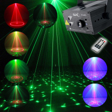 Full Color RGB Laser Stage Light Projector 3W Blue LED Stage Effect Lighting for DJ Disco Party KTV