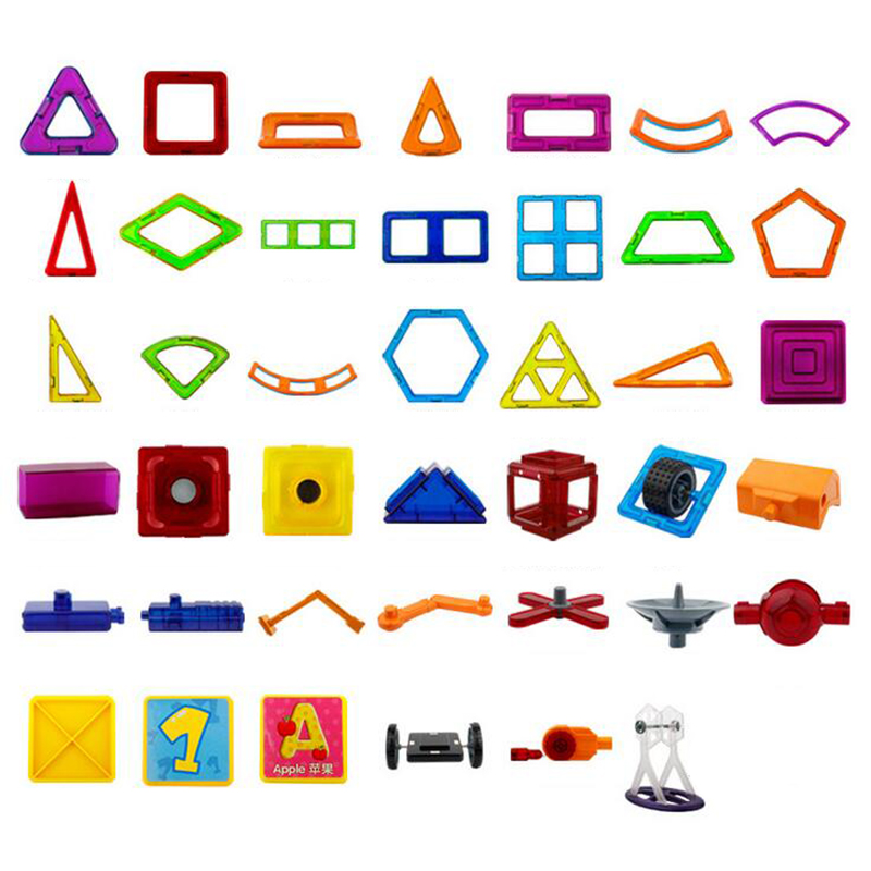 3D DIY Magnetic Designer Building Blocks Educational Toys Magnetic Blocks Accessories Creative Bricks Models Toys For