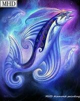 5d diy diamond painting fish rhinestone 3D diamond cross stitch mosaic embroidery home decoration kit