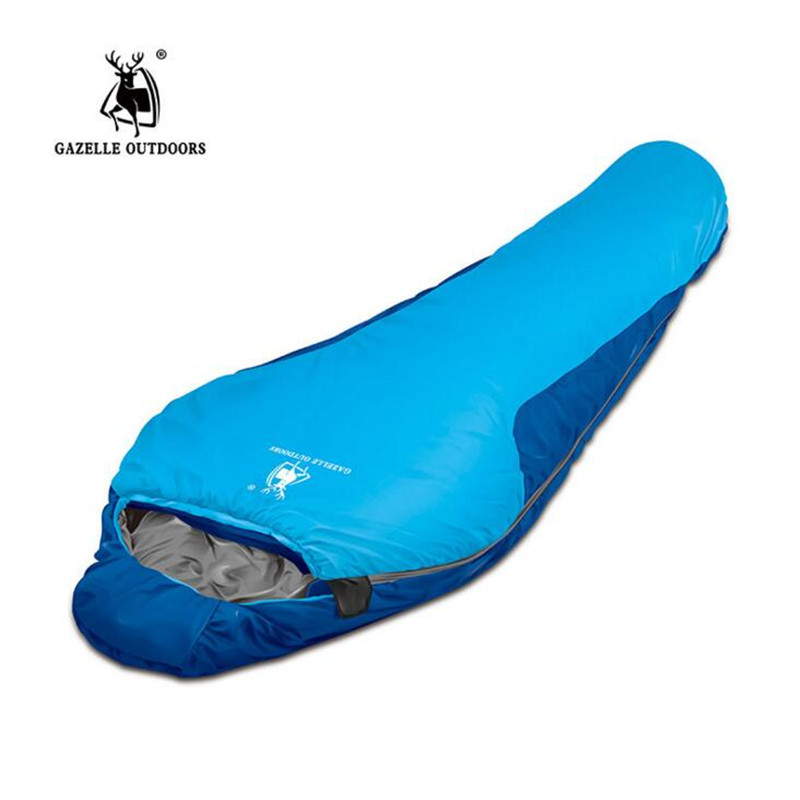 High Quality Camping Sleeping Bag 210 83cm Cotton Lining Bags Compression Waterproof Portable S163 In From Sports