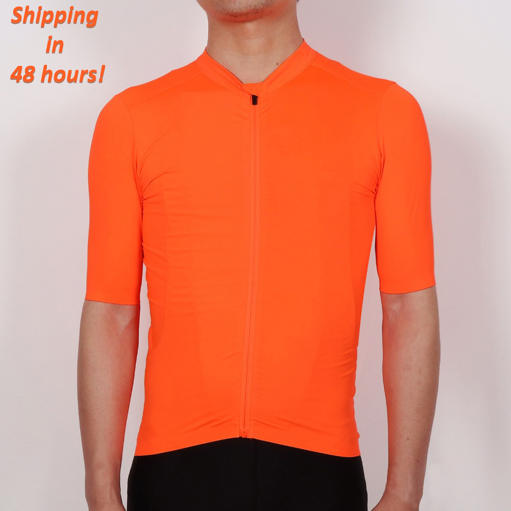 SPEXCEL 2018 NEW Bright Orange Top Quality Short sleeve cycling jersey pro team aero cut with Newest Seamless process road mtb