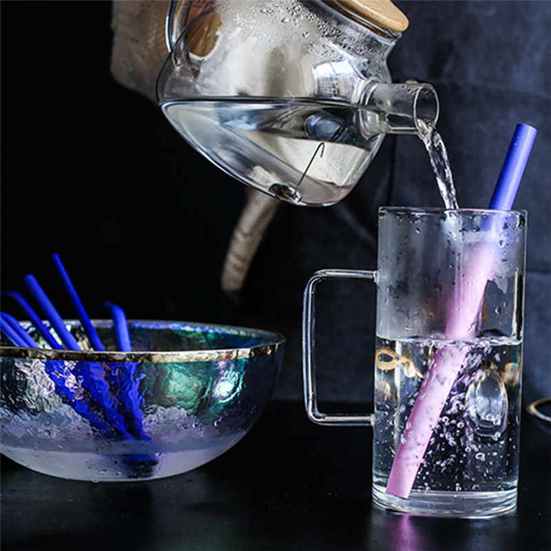 304 Stainless Steel Drink Straw Temperature Change Color Straws Thickening Bubble Tea Juice Multi Specification Metal Straws