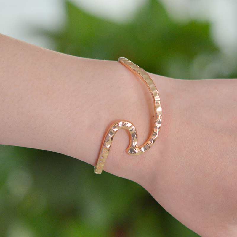mermaid on surfer shop bracelet girl hawaii wave jewelry sterling handmade best ocean silver products hammered wanelo beach cuff