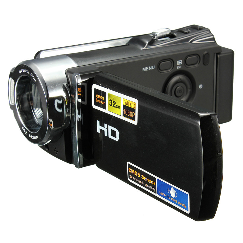 ФОТО 270 degrees Rotation 1080P 16 MP Digital Video Camcorder Camera DV  Full HD 16X ZOOM digital DV Camera Kit