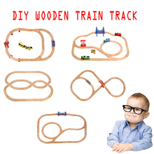 2019 Diecast DIY Usual Wooden Tracks Train Set Race Track Magic Brio Puzzles Educational Toys Wooden Railway Kids Toys Gifts electric train track set magnetic educational slot brio railway wooden train track station puzzles car toys for kids children