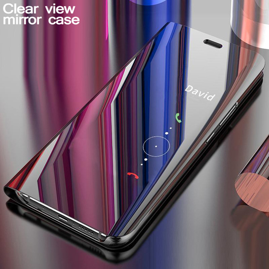 Mirror Flip Case For Samsung Galaxy Note 10 Plus 9 8 A 50 40 60 <font><b>70</b></font> 80 90 M 30 20 10 S10 e S9 S8 J4 J6 Plus A9 A7 <font><b>2018</b></font> Stand Case image