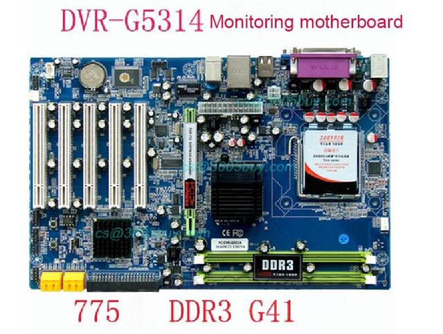Monitoring motherboard DVR G5314 Package G41 supports DDR3 775 pin DVR motherboard 1 year warranty