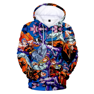 Image 2 - 3D Print Hoodies Men/Women Comic JOJO Hip Hop Sweatshirt Harajuku Tops Hooded Boys/Girls JOJO Streetwear Pullovers