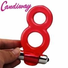 BASICS Vibrating Twin Cock Ring Vibrator delay Ejaculation Bold dildo ring extender Premature Lock Fine Sex Toys product for Men