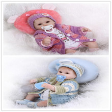 NPK Origin 43cm 17inch Reborn-Baby-Doll With High End Design Handmade Sweater And Hat Hot Welcome Bebes Menina As Christmas Gift