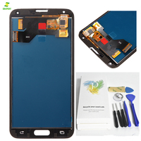 S5 G900 G900F For SAMSUNG Galaxy S5 i9600 G900 G900F LCD Screen Display Touch Screen Pantalla Complete Assembly Replacement AA