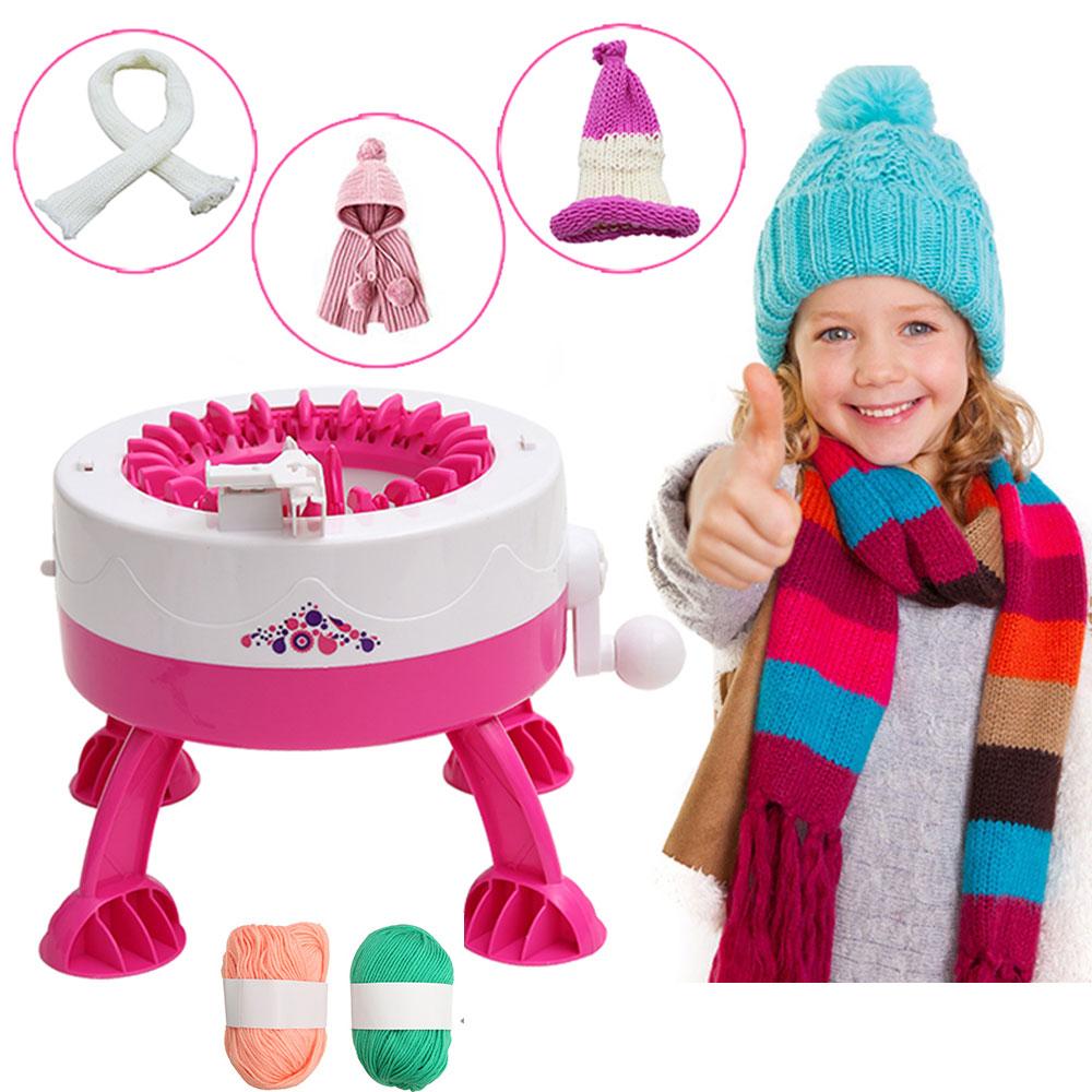 Aiguille en plastique outils de couture bricolage à la main Machine à tricoter tissage métier à tisser pour écharpe chapeau enfants enfants semblant jouer jouets livraison directe
