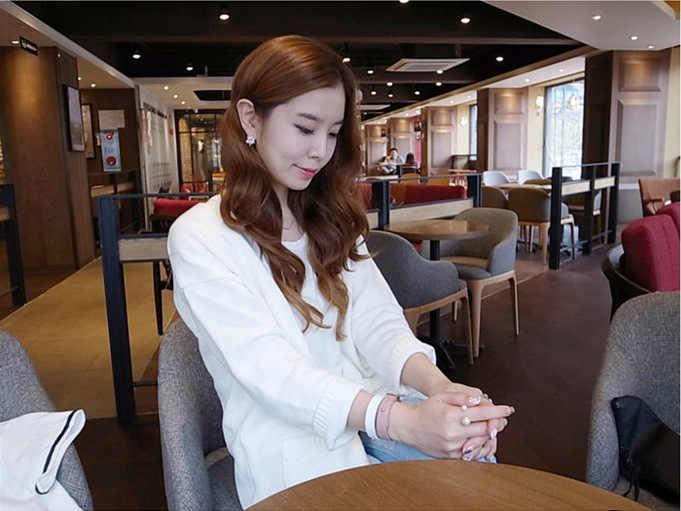 2019 สินค้าใหม่แฟชั่นแหวนสตรี Street Shoot อุปกรณ์เสริมไข่มุกเทียมขนาดเปิดแหวนปรับผู้หญิงเครื่องประดับ