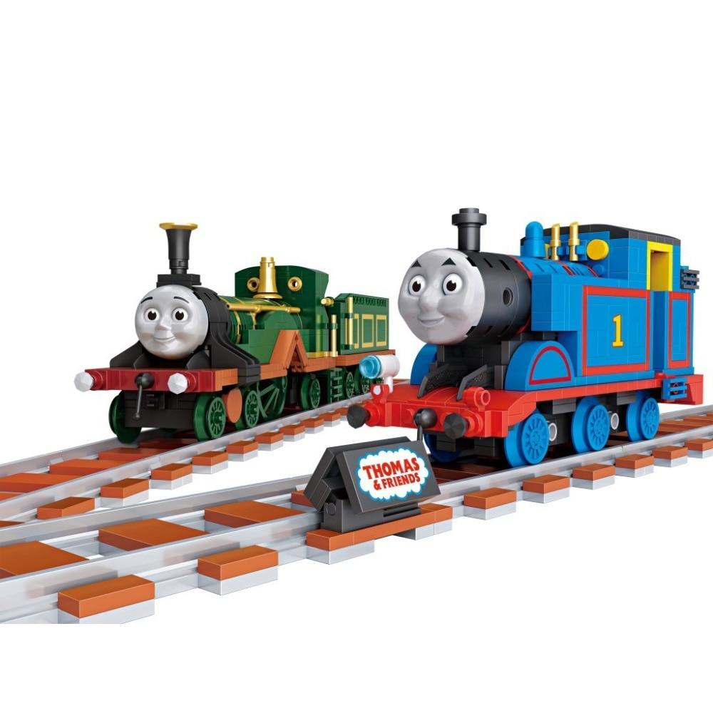 ФОТО Hot Cartoon Thomas and Friends 2in1 train mini diamond building block Loz nanoblock educational toys for kids gifts
