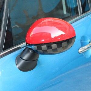 Image 4 - מחוץ דלת מראה אחורית קישוט מגן מעטפת כיסוי דיור עבור מיני קופר אחד S JCW F56 F55 רכב סטיילינג אבזרים