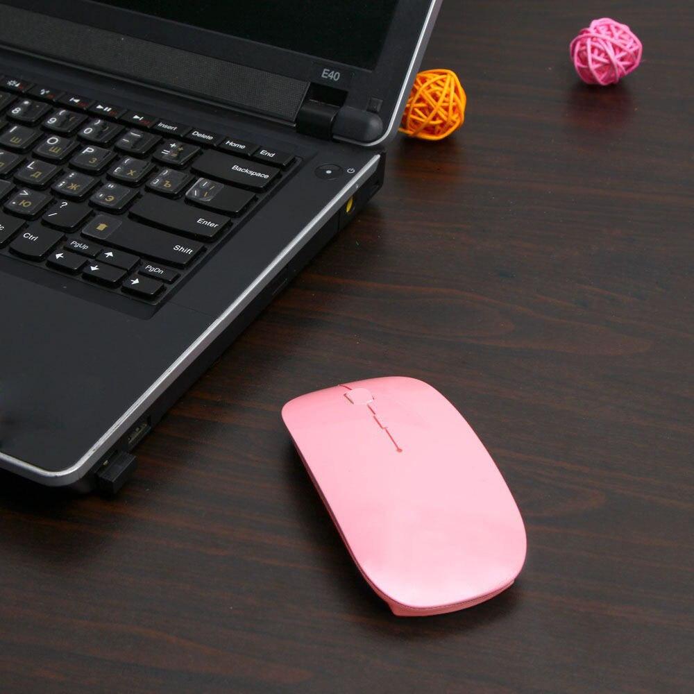 Ultra Thin USB Optical Wireless Mouse 2.4G Receiver Super Slim Mouse Cordless Computer PC Laptop Desktop 6