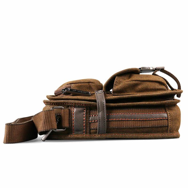 ¡Nueva venta! Bolsa de viaje retro de 2017 lona versátil casual bandolera para hombre envío gratis