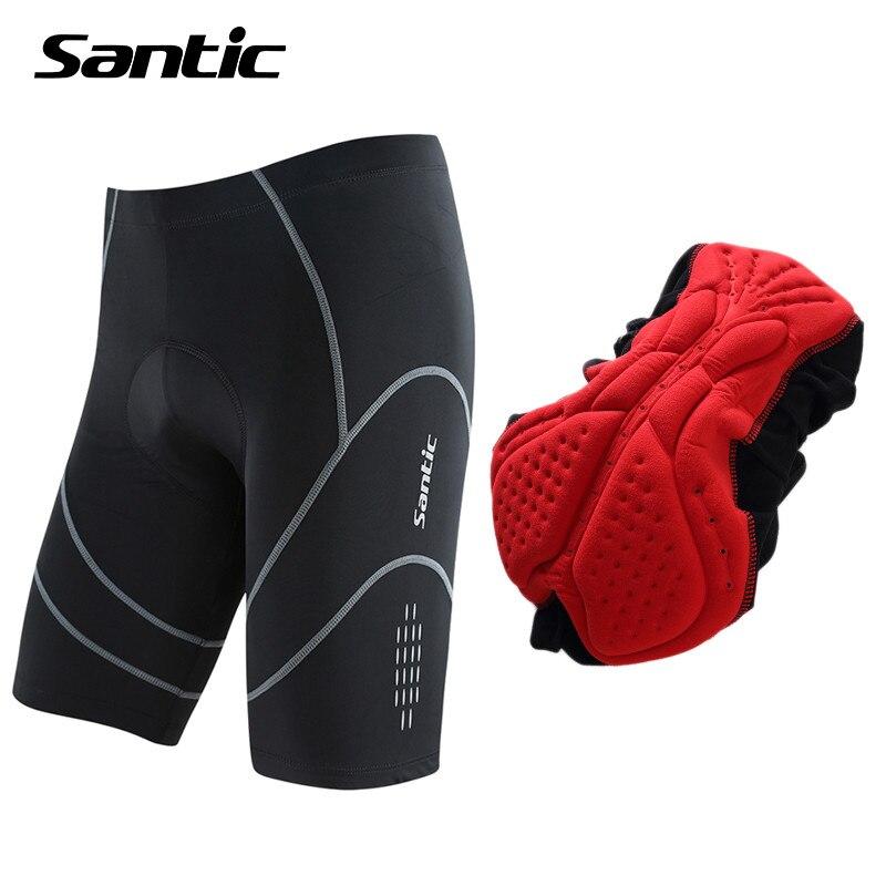 Цена за Santic 4D Coolmax Мягкий Велосипедные Шорты Противоударный MTB Дорожный Велосипед Шорты Светоотражающие Велосипед Короткие Штаны Бермуды Ciclismo S XXXL