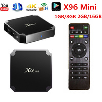 X96 mini TV BOX Android 7.1 OS Smart TV Box 2GB 16GB Amlogic S905W Quad Core support 4K 30tps 2.4GHz WiFi X96mini Set top box
