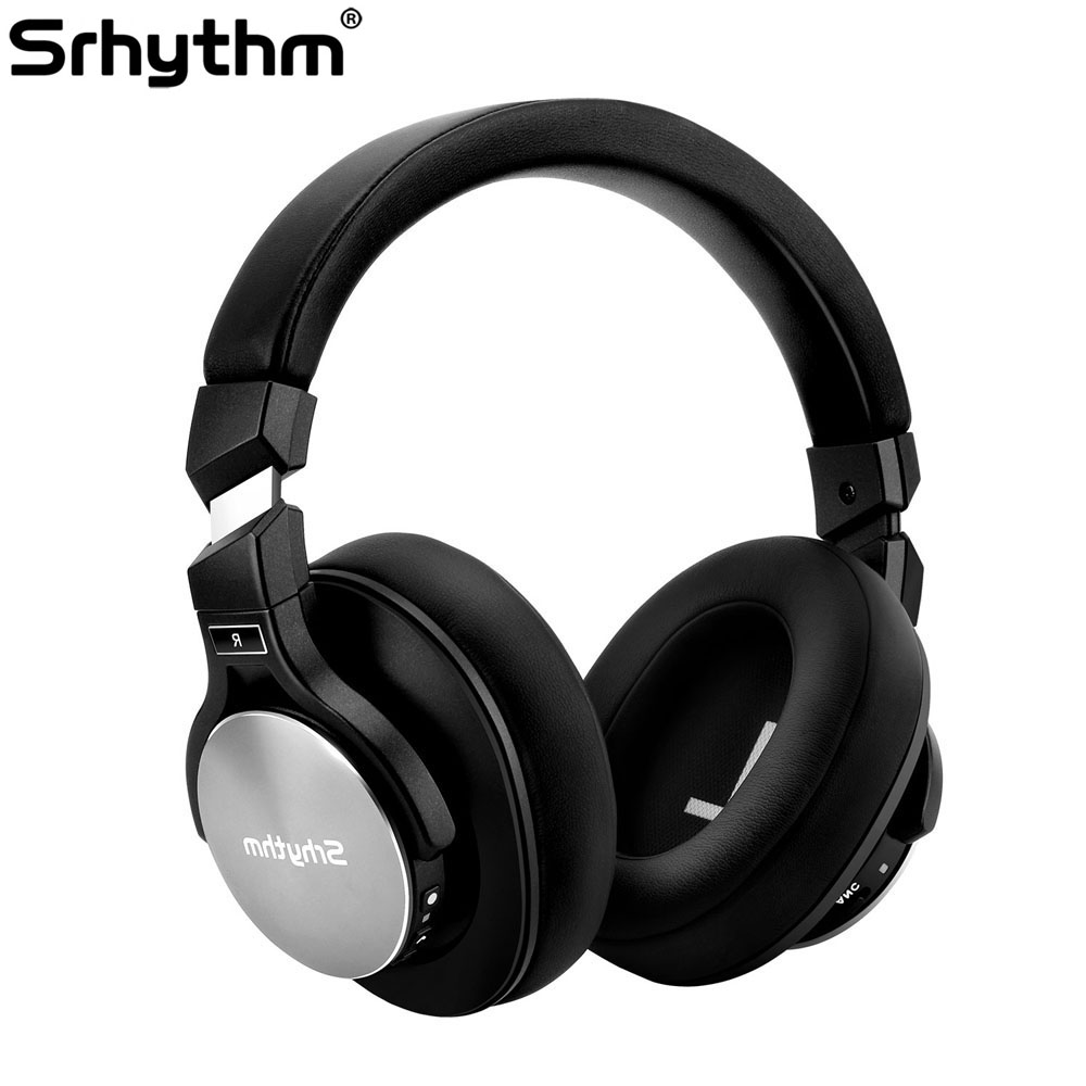 все цены на Noise Cancelling Headphones Bluetooth wireless Earphones deep Bass ANC Foldable Over ear Stereo headset with microphone srhythm онлайн