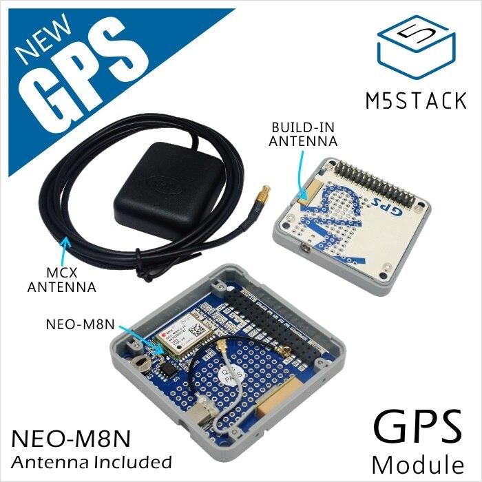 M5Stack Offizielle Lager Bieten! GPS Modul mit Interne & Externe Antenne MCX Interface IoT Entwicklung Board für Arduino ESP32